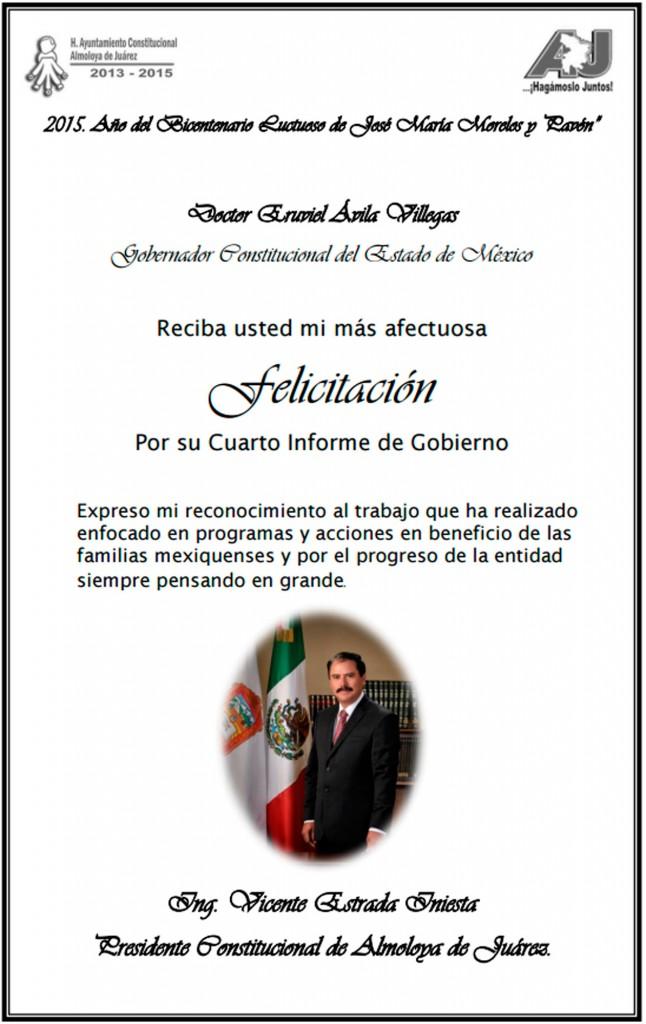 Felicitación-a-Eruviel-Ávila-de-parte-de-Vicente-Estrada,-Presidente-de-Almoloya-de-Juárez