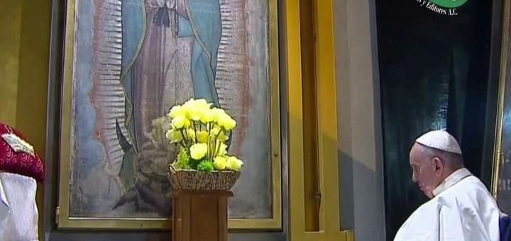 Sé que aquí se halla el corazón secreto de cada mexicano: Papa  al visitar la Basílica de Guadalupe