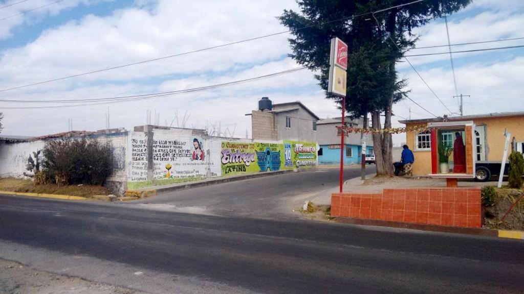 Entrada de San Lorenzo Cuauhtenco, Almoloya de Juárez, donde supuestamente se encuentra el basurero.