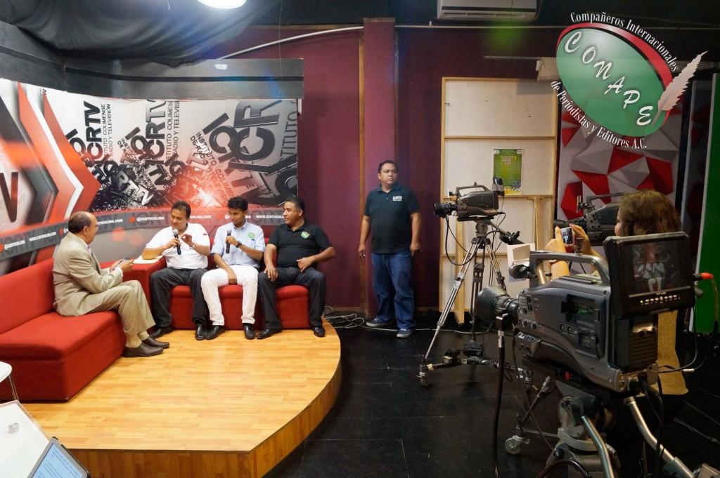 Directivos de CONAPE Internacional en entrevista para el noticiero Once Noticias