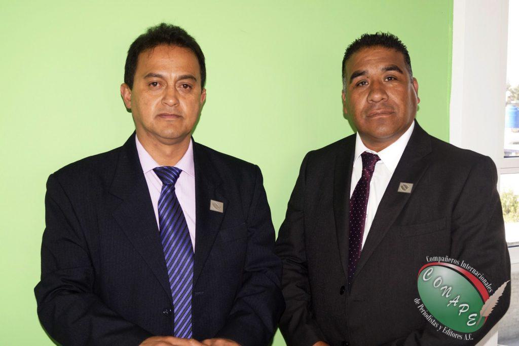Presidente Internacional de CONAPE, Lic. Raúl González (izq) y el Vicepresidente Internacional de CONAPE, Lic. Alfredo Hernandez (dcha)