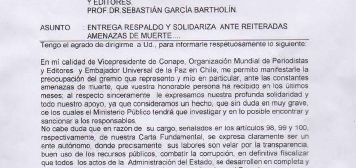 conape-entrega-respaldo-y-solidariza-ante-reiteradas-amenazas-de-muerte-en-chile
