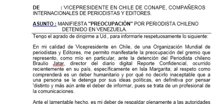 conape-manifiesta-preocupacion-por-periodista-chileno-detenido-en-venezuela