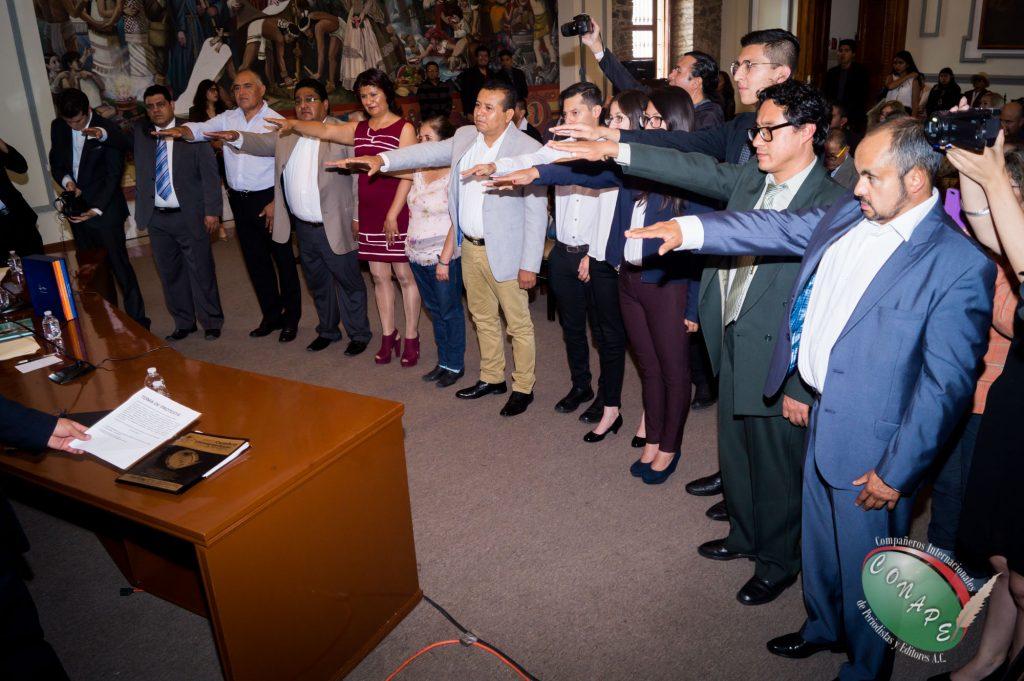 Toman protesta los nuevos integrantes de la Vicepresidencia de CONAPE en Puebla