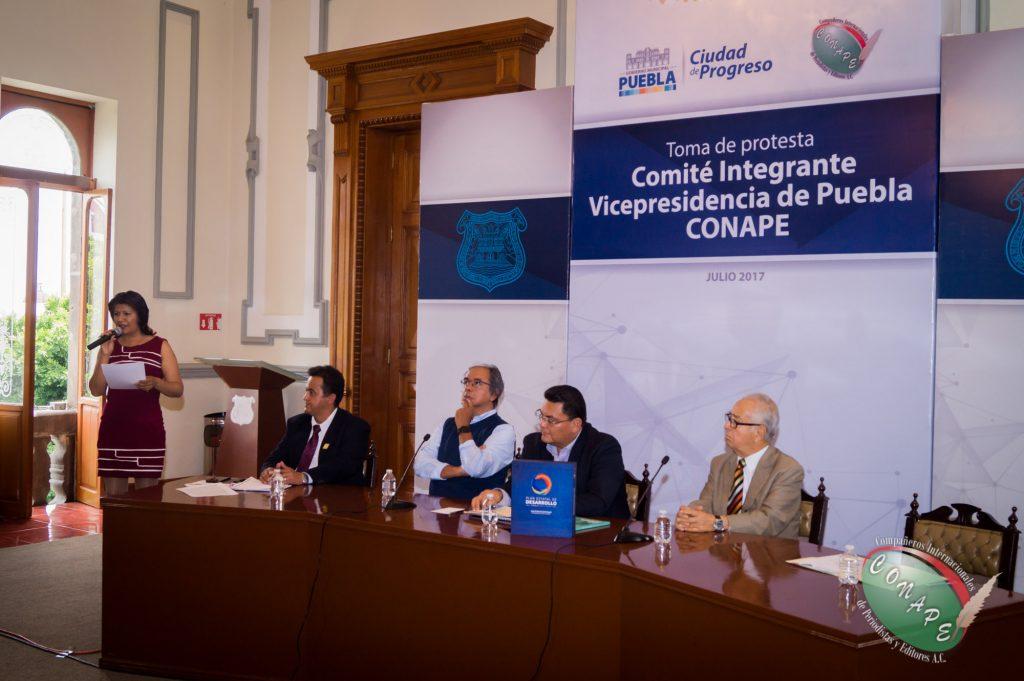 Vicepresidenta de CONAPE en Puebla impulsará ley en favor de los periodistas
